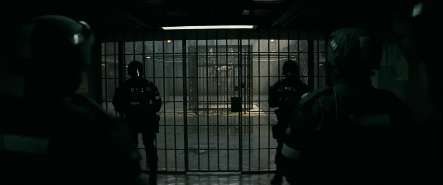 Prison from suicide squad trailer by DC comics Warner Bros.