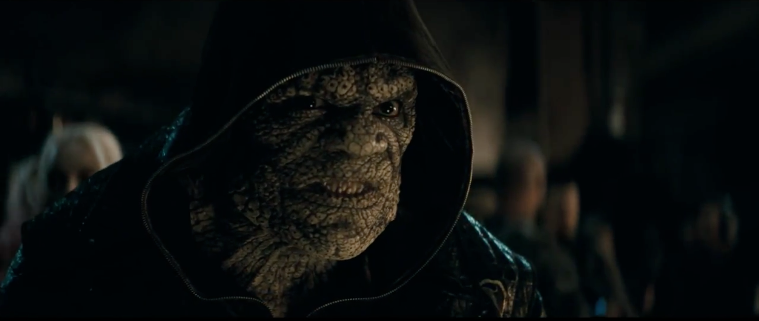 Adewale Akinnuoye-Agbaje as Killer Croc in Suicide Squad Trailer DC Comics Warner Bros.