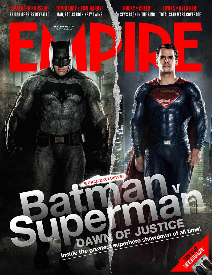 batman v superman vs empire cover dc cinematic universe ben affleck henry cavill batfleck dawn of justice