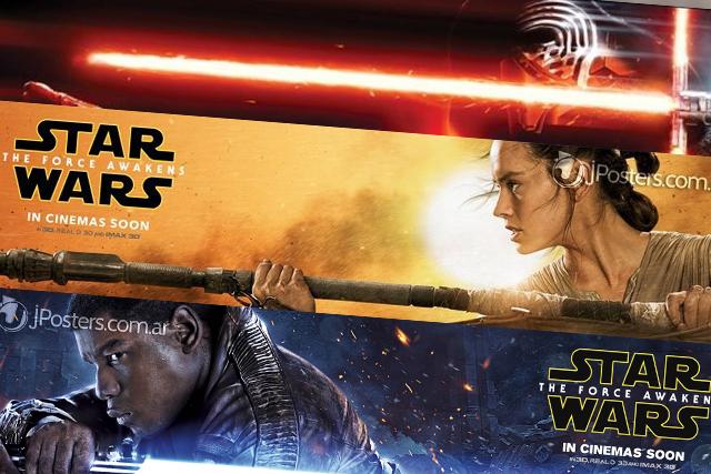 STAR WARS the force awakens poster trailer new banner finn rey kylo ren