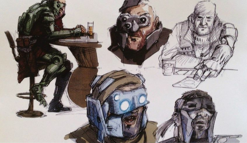 lor san tekka max von sydow star wars the force awakens episode 7 concept art