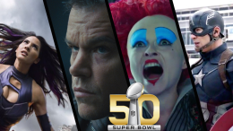 Superbowl 50 captain america civil war 2016 alice through the looking glass super bowl jason bourne olivia munn x-men apocalypse