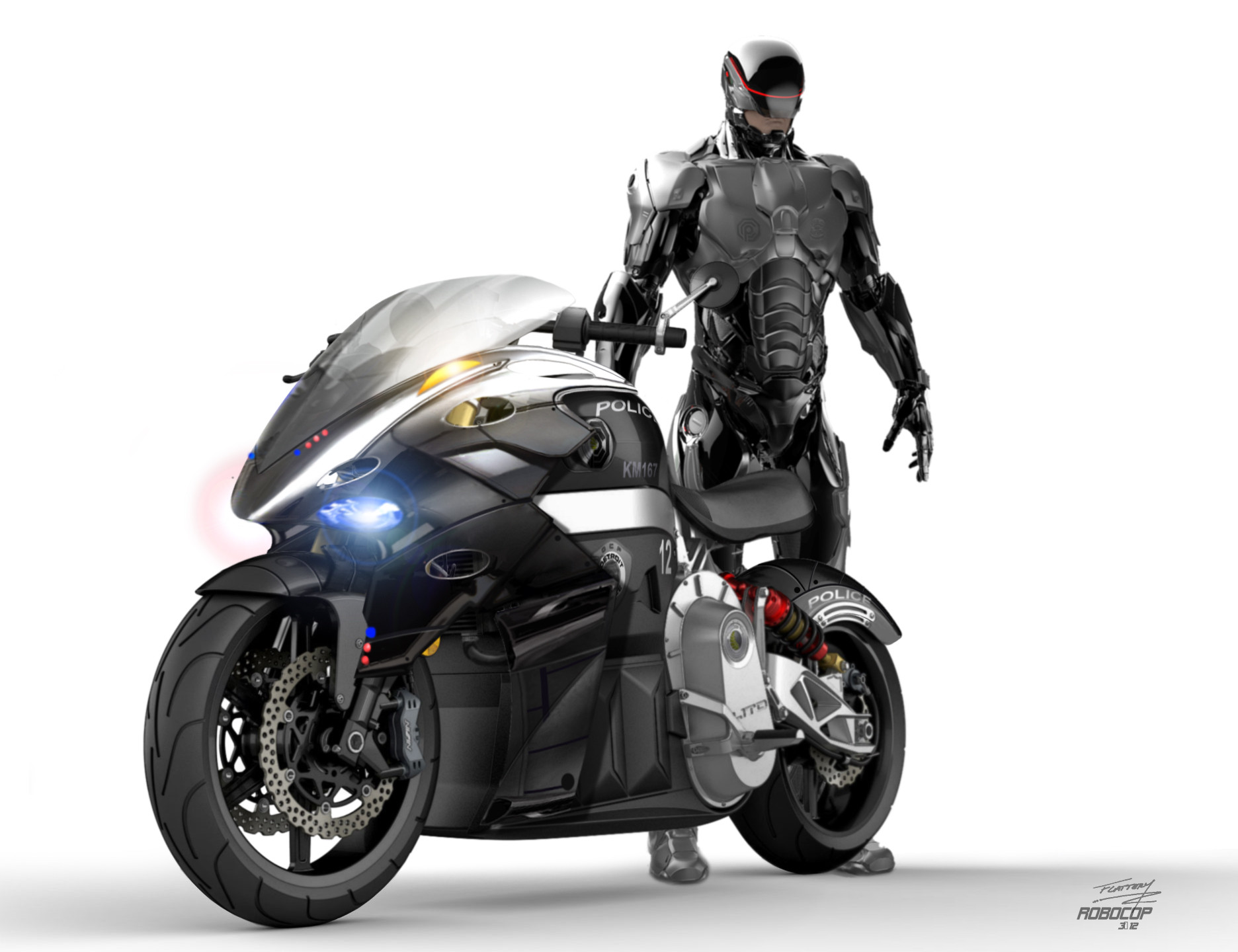 Robocop Exclusive Designs For His Motorcycle The Second Take